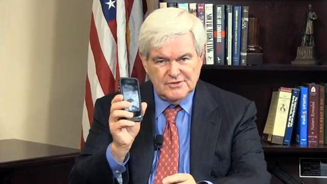 Newt Gingrich Wants to Rename the Cell Phone