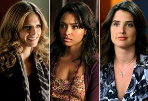Stana Katic, Kat Graham, Cobie Smulders | Photo Credits: Richard Cartwright/ABC; Quantrell D. Colbert/The CW; Ron P. Jaffe/Fox