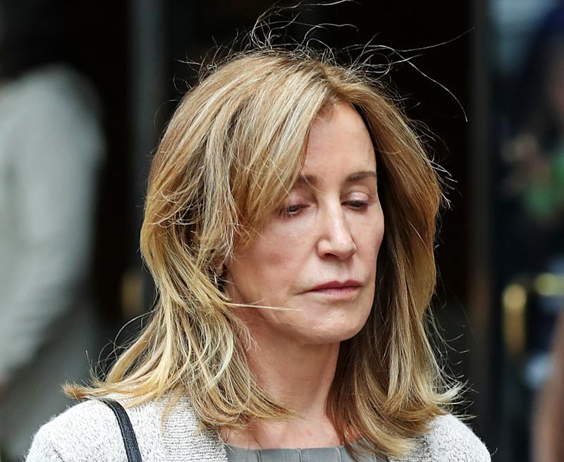 Actress Felicity Huffman leaves the John Joseph Moakley United States Courthouse in Boston on May 13, 2019. (Photo: David L. Ryan/The Boston Globe via Getty Images)