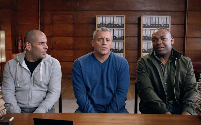 Matt LeBlanc, Chris Harris and Rory Reid in a recent Top Gear teaser - Credit: BBC