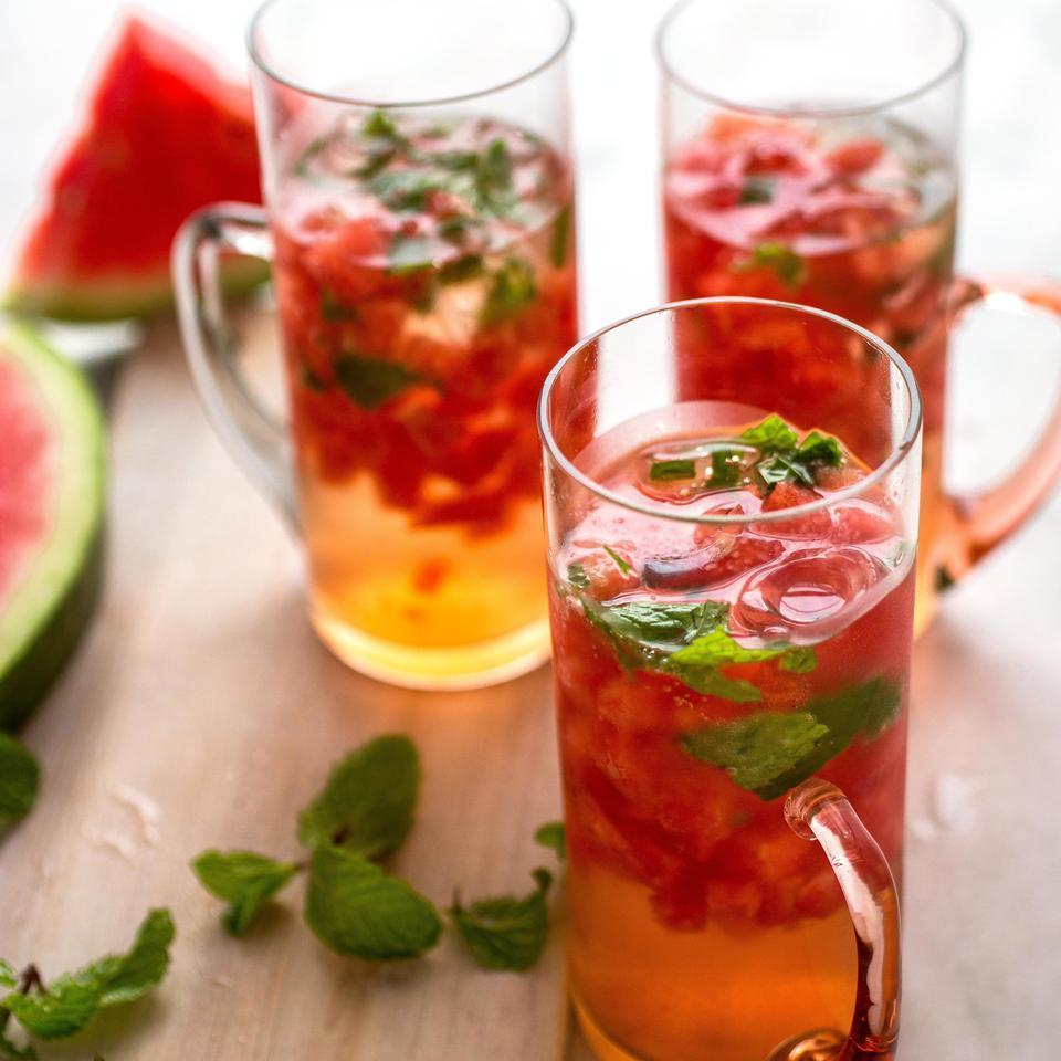 <p>In this pink sangria recipe, we've skipped the added sugar and used sparkling pink wine, elderflower liqueur and tons of fresh fruit and mint to create a delicious, yet healthy cocktail.</p>