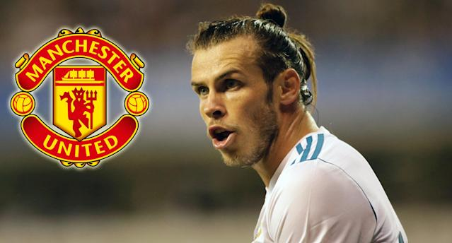 """<a class=""""link rapid-noclick-resp"""" href=""""/soccer/players/gareth-bale/"""" data-ylk=""""slk:Gareth Bale"""">Gareth Bale</a> continues to be linked with a move to <a class=""""link rapid-noclick-resp"""" href=""""/soccer/teams/manchester-united/"""" data-ylk=""""slk:Manchester United"""">Manchester United</a>"""