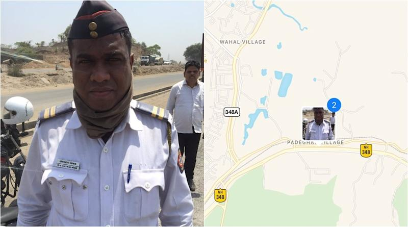 mumbai police, police help citizens, cop offers petrol to man stuck on highway, police give petrol to stranded man, helpful police story, good news, indian express, viral news