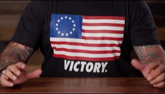 Nine Line Apparel released a Betsy Ross flag t-shirt in response to Nike's decision to pull its July Fourth-themed sneakers over issues of racial insensitivity raised by former NFL star Colin Kaepernick. (Credit: Instagram)