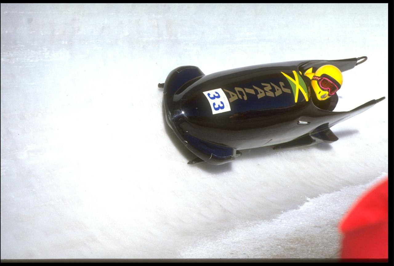 <p>Dudley Stokes and Michael White raced in the two-man bobsled competition during the 1988 Winter Olympics in Calgary. The two man race was initially all that the Jamaicans were attempting to compete in. (Getty Images) </p>