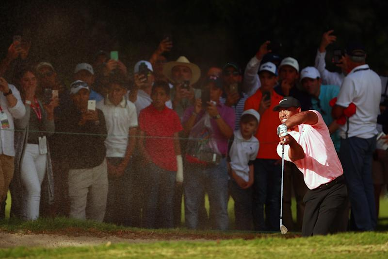 There's already a commemorative plaque for Tiger Woods' incredible bunker shot at the WGC-Mexico