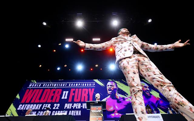 Tyson Fury goes head to head with Deontay Wilder in Los Angeles - Mikey Williams/Top Rank