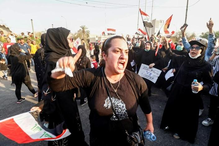 A water crisis in 2018 sparked massive anti-government protests in southern Iraq where nearly 120,000 were hospitalised after drinking polluted water (AFP Photo/Haidar MOHAMMED ALI)