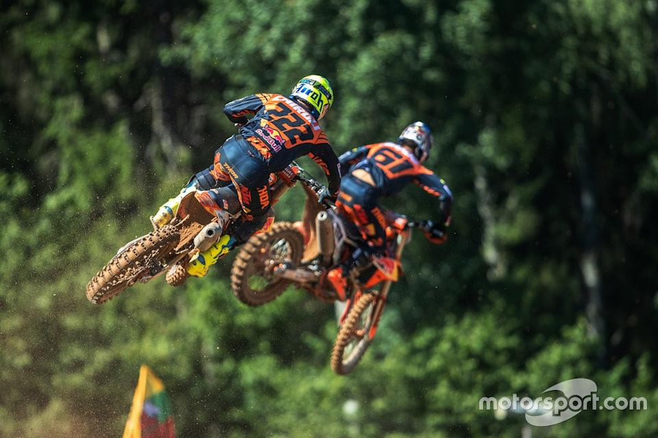 "Tony Cairoli, Red Bull KTM Factory Racing, Jorge Prado, Red Bull KTM Factory Racing<span class=""copyright"">Juan Pablo Acevedo</span>"