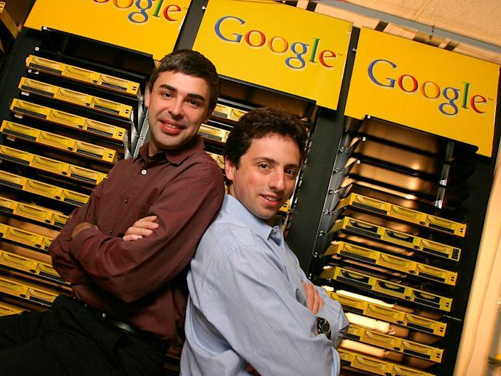 Larry Page and Sergey Brin in 2003