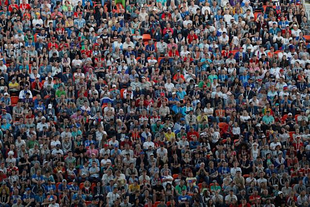 Soccer Football - World Cup - Group H - Japan vs Senegal - Ekaterinburg Arena, Yekaterinburg, Russia - June 24, 2018 Fans during the match REUTERS/Carlos Garcia Rawlins TPX IMAGES OF THE DAY