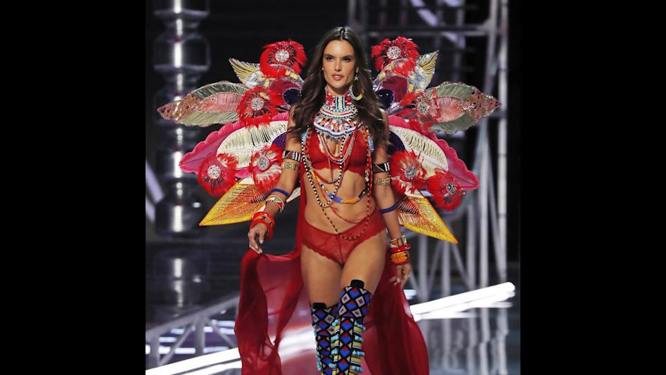 "<p>Alessandra Ambrosio announced after the 2017 Fashion Show that she would be hanging up her Angel wings. ""Words cannot describe how grateful I am to have been working for this amazing brand that inspires me and women all over the world,"" she posted on Instagram. Ambrosio first walked the show in 2001, and has walked in 15 VS Fashion Shows since. Ambrosio has worn the Fantasy Bra twice — in 2012 and in 2014, alongside fellow Angel Adriana Lima. Her time with Victoria's Secret has been lucrative for the Brazilian bombshell: Forbes estimated she earned $5 million in 2016, most of which came from her contract with the lingerie brand.</p>"
