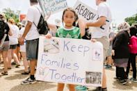 """<p>""""I am marching because I want families to be together."""" - Natalie, 9</p>"""