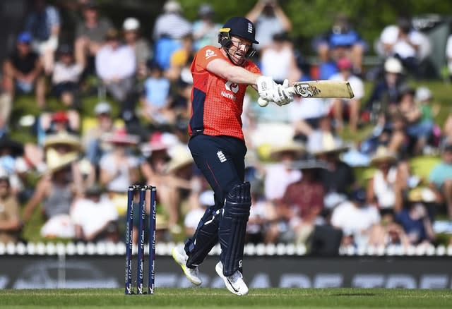 Eoin Morgan joined forces with Malan in a record-breaking partnership (Chris Symes/AP)