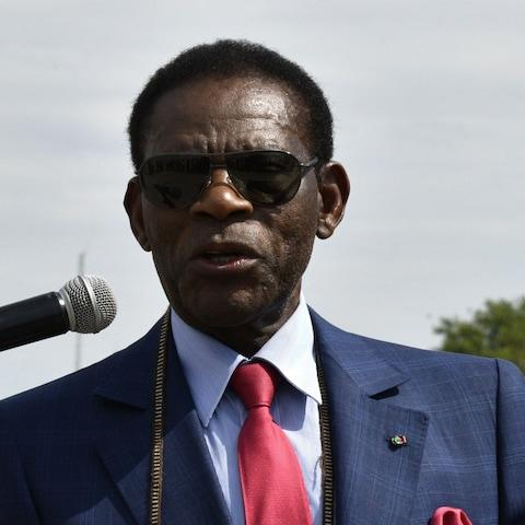 Equatorial Guinea's President Teodoro Obiang Nguema has ruled since 1979 - Credit: AIZAR RALDES/AFP