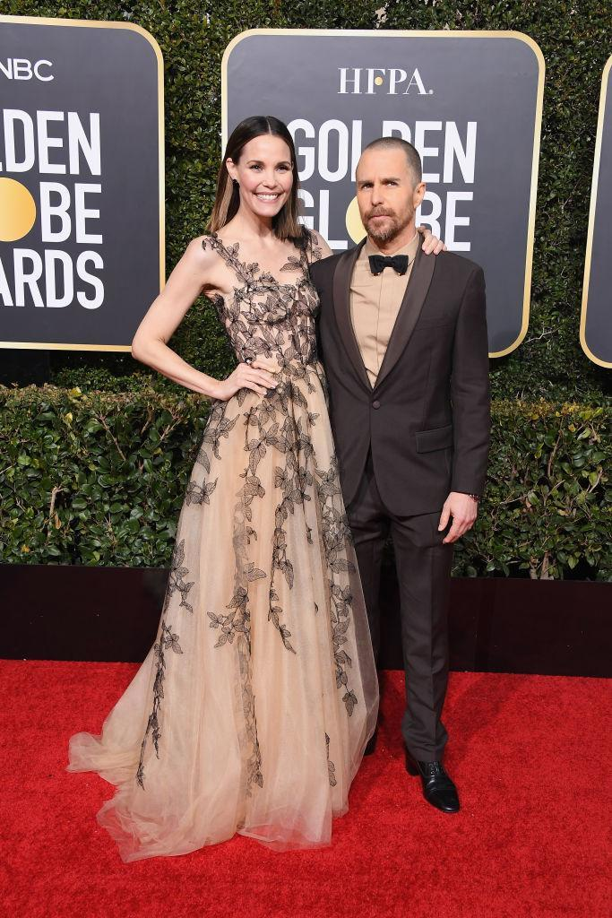 <p>Leslie Bibb and Sam Rockwell attend the 76th Annual Golden Globe Awards at the Beverly Hilton Hotel in Beverly Hills, Calif., on Jan. 6, 2019. (Photo: Getty Images) </p>