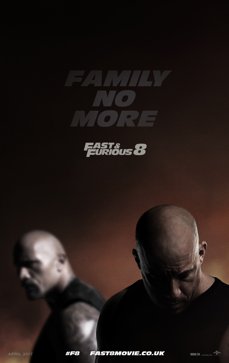 'Fast & Furious 8's poster clearly played up conflict between Johnson and Diesel (credit: Universal)
