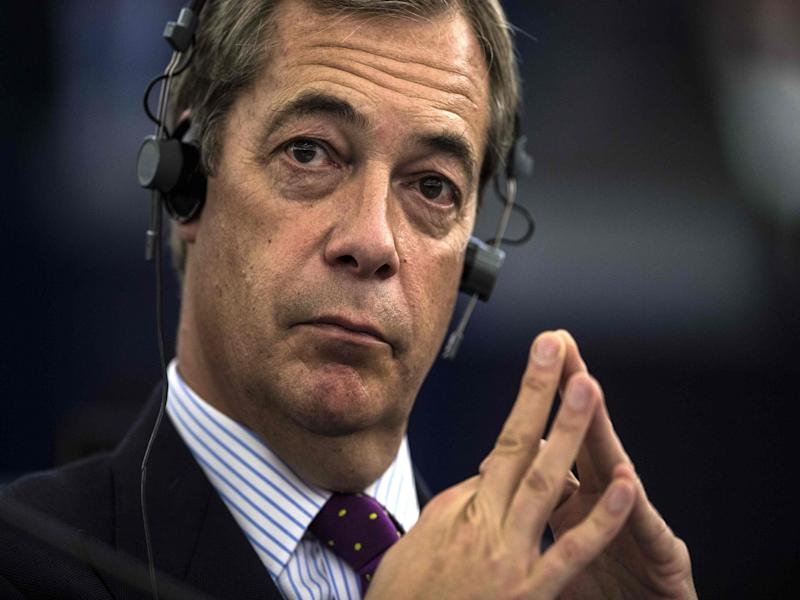 Mr Farage insisted Bolton's refusal to quit 'could provide a lifeline' for the party: AFP/Getty