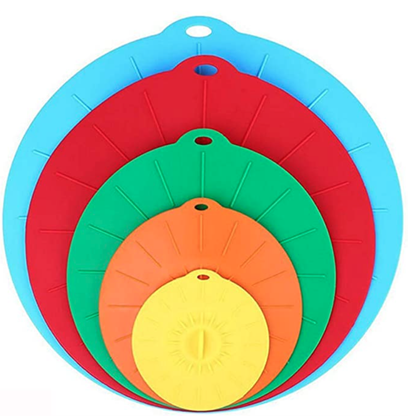 Set of five silicone lids