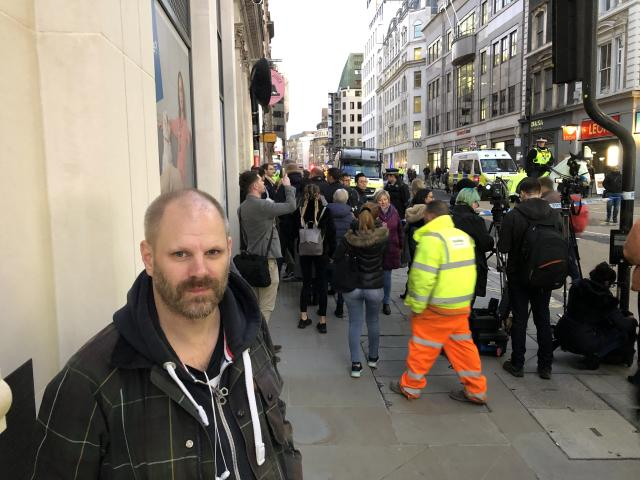 Matthew Gould pictured in Cannon Street on Friday (James Morris)