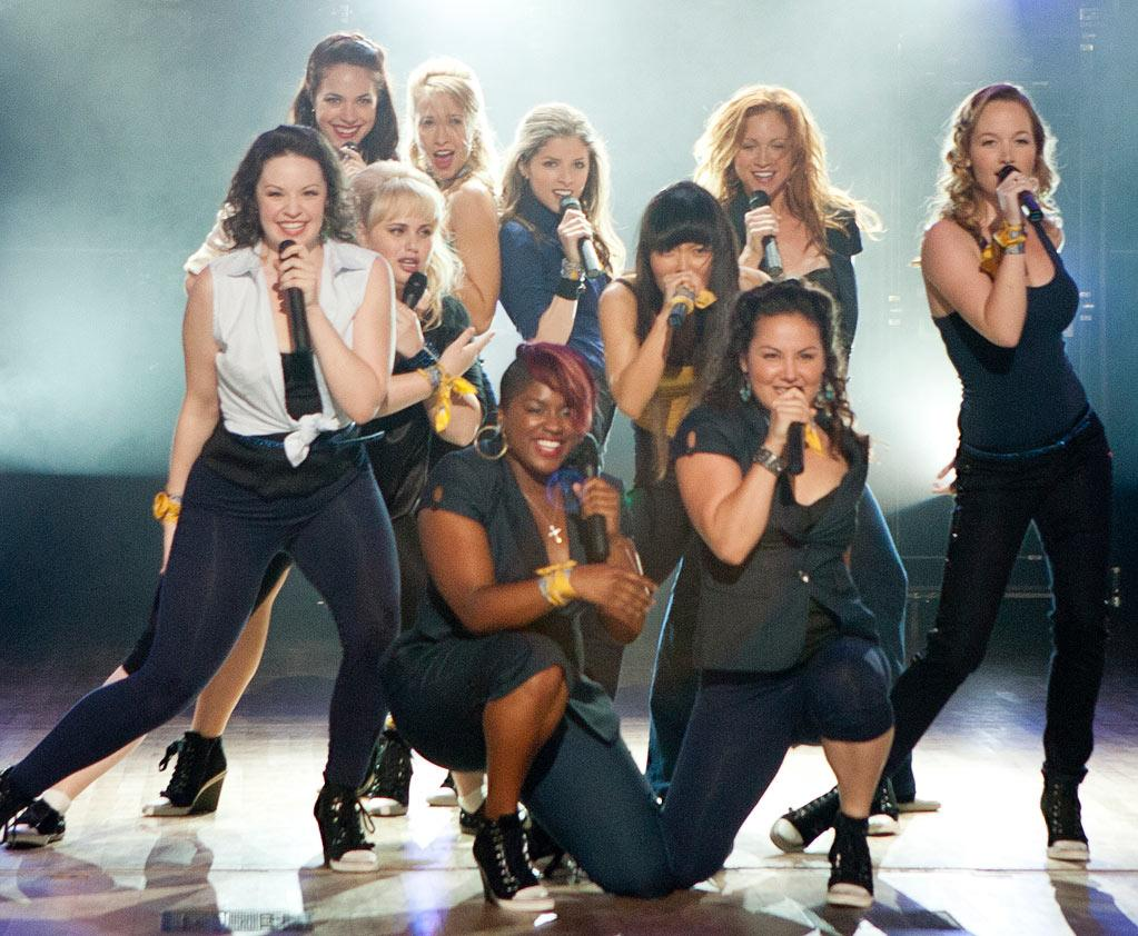 """ Pitch Perfect "" Release date: October 5 Starring: Anna Kendrick, Brittany Snow and Rebel Wilson"