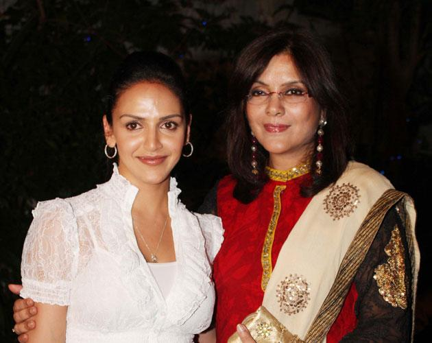 Zeenat Aman with Esha Deol