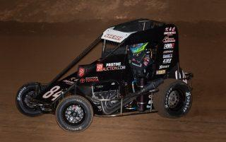 Gio Scelzi in one of his midget races last season. (Jason Tucker Photos.)