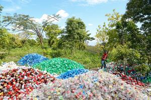 New plastic washing line in Haiti that produces clean, high-quality recycled plastic