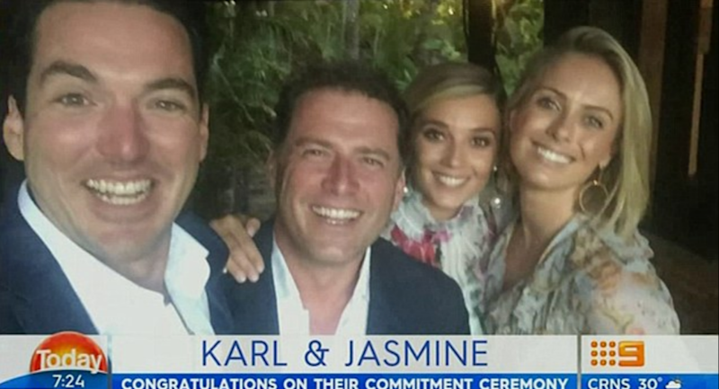 Karl's co-hosts congratulated him on his happy news on this morning's show. Source: Nine