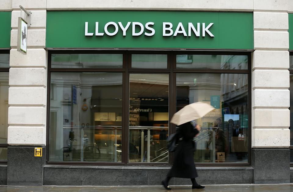 Lloyds Bank, Halifax, Bank of Scotland and Scottish Widows are all under the Lloyd's Banking Group umbrella. Photo: Isabel Infantes / AFP via Getty Images