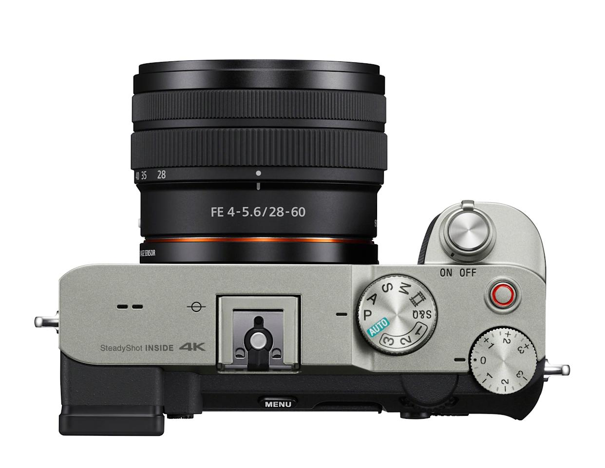 Sony A7C full-frame mirrorless camera with a new compact body
