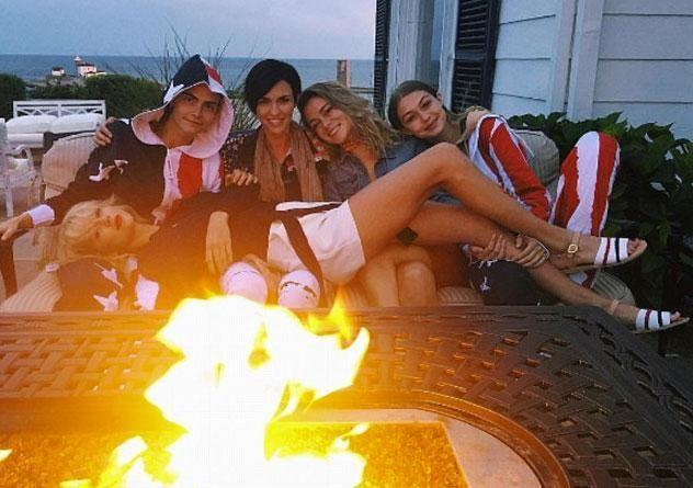 Ruby joined the likes of Cara Delevingne and Gigi Hadid for Taylor's Fourth of July celebrations this year. Source: Instagram