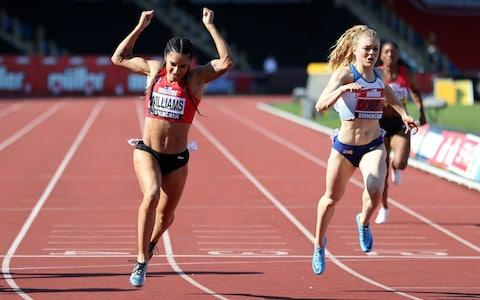 Jodie Williams wins the Women's 200m - Credit: PA