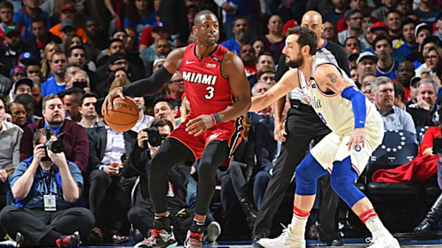 The Miami Heat levelled their series against the Philadelphia 76ers as Dwyane Wade starred.