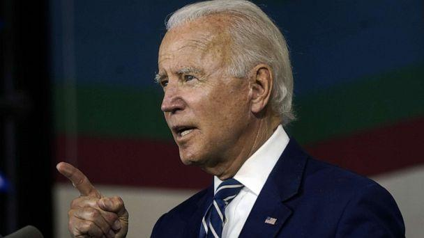 PHOTO: NEW CASTLE, DE - JULY 21: Democratic presidential candidate former Vice President Joe Biden speaks about economic recovery during a campaign event at Colonial Early Education Program at the Colwyck Center on July 21, 2020 in New Castle, Delaware. (Drew Angerer/Getty Images)