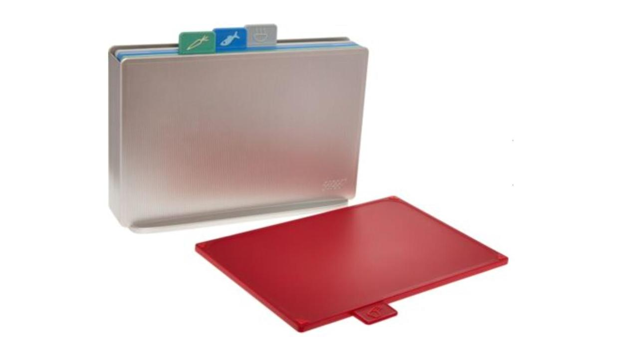 Set of Four Colour Coded Chopping Boards