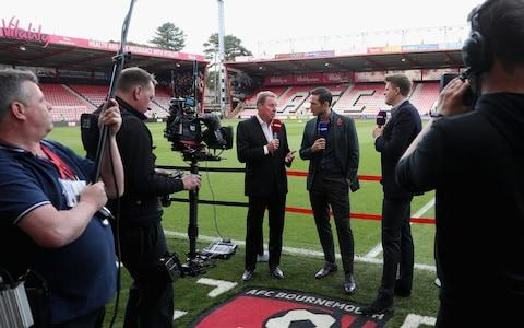 Lampard filming alongside Harry Redknapp for BT Sport - Credit: Getty Images Europe