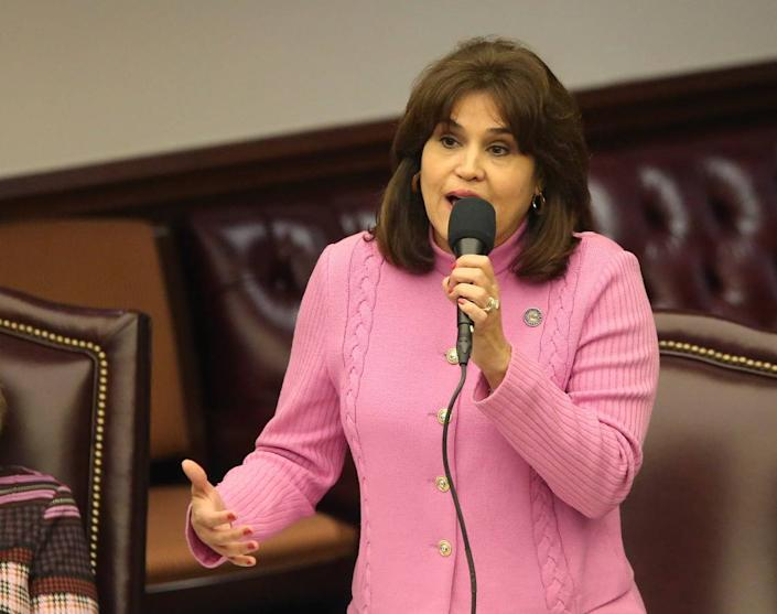 Sen. Annette Taddeo, D-Miami, speaks during the Senate special session concerning Gov. Ron DeSantis' dismissal of Broward County Sheriff Scott Israel on Wednesday Oct. 23, 2019, in Tallahassee.
