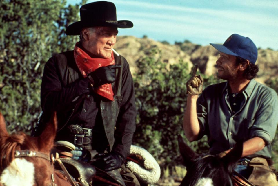 Jack Palance and Billy Crystal star in the 1991 comedy favorite, 'City Slickers,' which celebrates its 30th anniversary this year