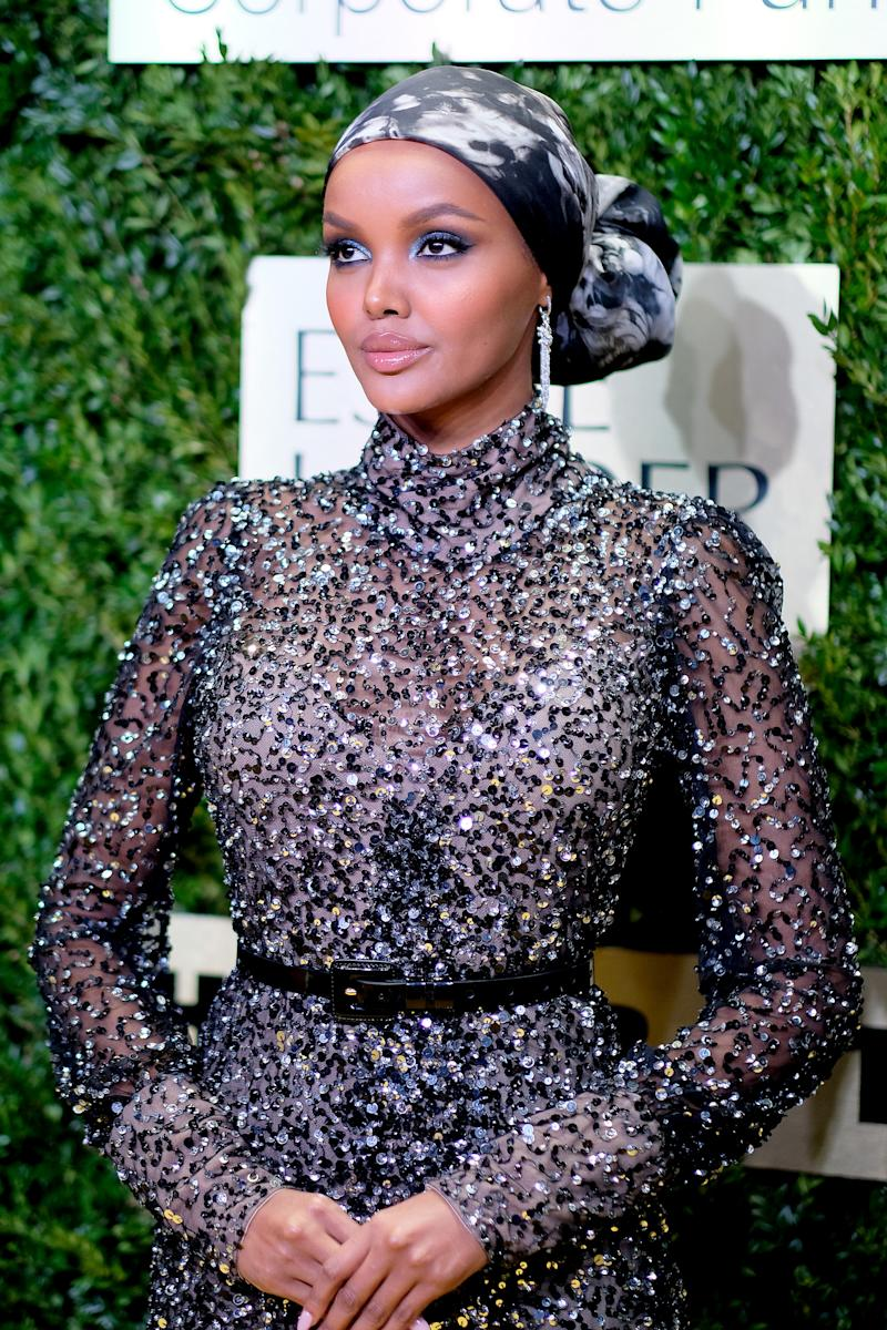 NEW YORK, NEW YORK - NOVEMBER 18: Halima Aden attends the Lincoln Center Corporate Fashion Gala honoring Leonard A. Lauder at Alice Tully Hall on November 18, 2019 in New York City. (Photo by Dimitrios Kambouris/Getty Images for Lincoln Center)