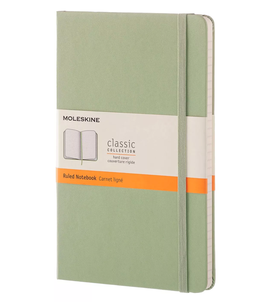 """<h2>Moleskine Hard Cover Composition Notebook</h2><br>Moleskines are perfect for writers because they are durable, easy to carry around, and of course, cute. <br><br><em>Shop <strong><a href=""""https://goto.target.com/bLDaP"""" rel=""""nofollow noopener"""" target=""""_blank"""" data-ylk=""""slk:Moleskine"""" class=""""link rapid-noclick-resp"""">Moleskine</a></strong><br></em><br><br><strong>Moleskine</strong> 5"""" x 8"""" Hard Cover Composition Notebook, $, available at <a href=""""https://go.skimresources.com/?id=30283X879131&url=https%3A%2F%2Fgoto.target.com%2Fay5QW"""" rel=""""nofollow noopener"""" target=""""_blank"""" data-ylk=""""slk:Target"""" class=""""link rapid-noclick-resp"""">Target</a>"""