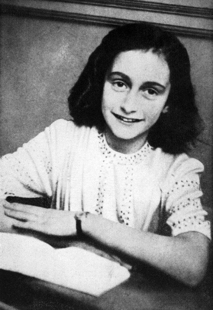 A picture released in 1959 shows a portrait of Anne Frank who is said to have died of typhus in the Bergen-Belsen concentration camp at least a month earlier than her official date of death
