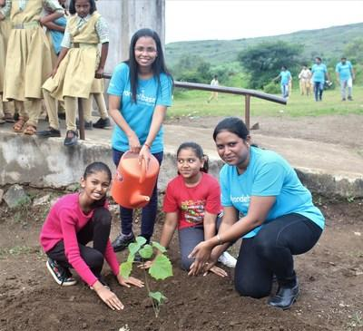 With a goal of putting 400 trees in the ground, planting occurred on Vavala Mountain Gurudatta Trust and Janta Vidyalaya School. There was also an educational piece to help showcase the value of giving back to the ecosystem by keeping the environment clean.