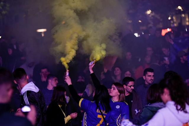 """The Dardanians, as Kosovo fans call themselves, have promised a """"magnificent reception"""" for England's players and supporters (AFP Photo/Armend NIMANI)"""