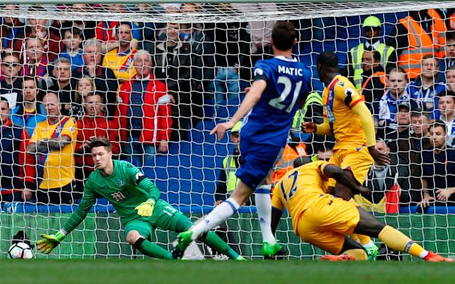 <span>Wayne Hennessey was in inspired form in the Palace goal</span> <span>Credit: AFP </span>