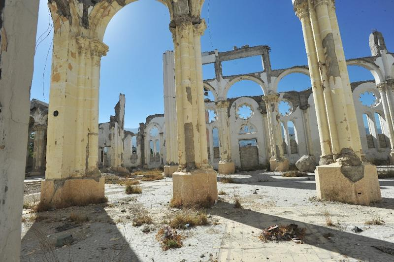 View of the cathedral of Port-au-Prince destroyed in the 2010 earthquake on January 11, 2013 (AFP Photo/Thony Belizaire)