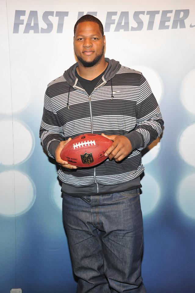 <b>Ndamukong Suh</b><br><br>He is one of the most-decorated players in college football history and was the 2010 NFL Rookie of the Year.