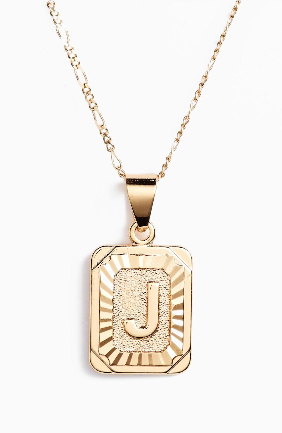 <p>This <span>Bracha Initial Pendant Necklace</span> ($50) will feel uniquely theirs, thanks to the custom letter. Whoever you gift it to, it'll become their favorite piece for sure.</p>