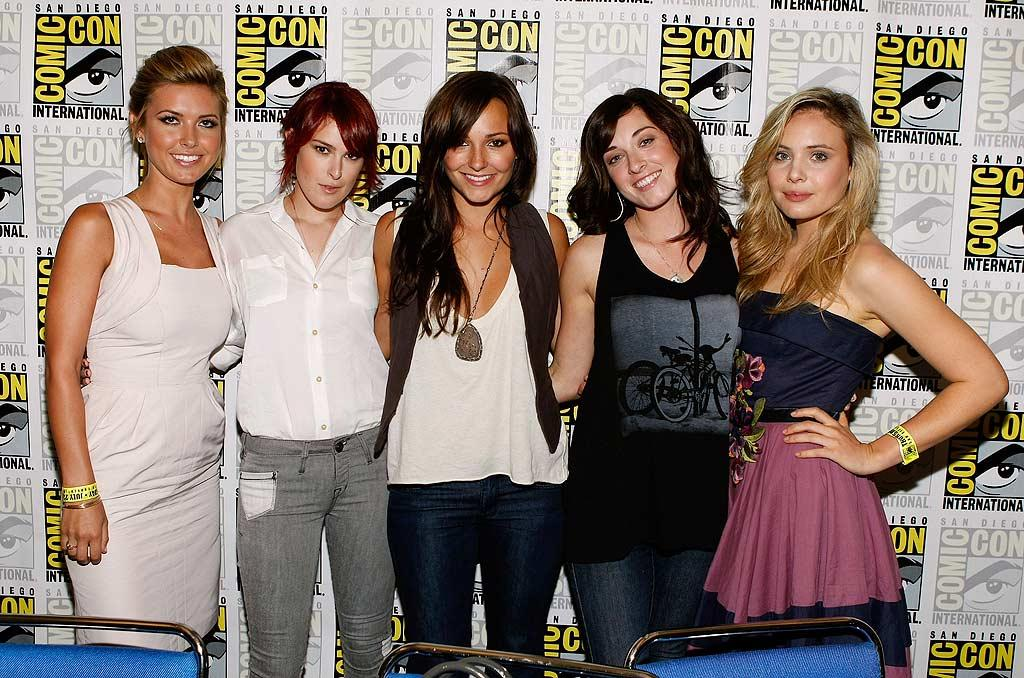 "The lovely ladies of ""Sorority Row"" -- Audrina Patridge, Rumer Willis, Briana Evigan, Margo Harshman, and Leah Pipes -- were on hand to promote the September 11 release of their screamfest, which also features a shotgun-toting Carrie Fisher. Michael Buckner/<a href=""http://www.gettyimages.com/"" target=""new"">GettyImages.com</a> - July 23, 2009"