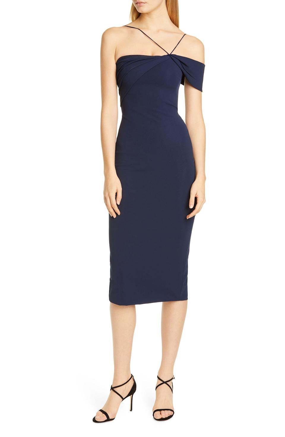 """<p><strong>CUSHNIE</strong></p><p>nordstrom.com</p><p><a href=""""https://go.redirectingat.com?id=74968X1596630&url=https%3A%2F%2Fshop.nordstrom.com%2Fs%2Fcushnie-asymmetrical-pencil-dress%2F5494709&sref=https%3A%2F%2Fwww.marieclaire.com%2Ffashion%2Fg32905504%2Fnordstrom-sale-june-2020%2F"""" rel=""""nofollow noopener"""" target=""""_blank"""" data-ylk=""""slk:SHOP IT"""" class=""""link rapid-noclick-resp"""">SHOP IT </a></p><p><del>$1,595</del><strong><br>$717.74</strong></p><p>Just because wedding season has been (unofficially) cancelled, doesn't mean you can't pick up something fancy. You can buy this versatile number from Cushnie on sale now, and have a brand-new dress to wear later.</p>"""
